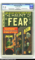 Golden Age (1938-1955):Horror, The Haunt of Fear 17 (#3) (EC, 1950) CGC FN/VF 7.0 Off-white towhite pages. The triumvirate of EC horror hosts take over th...