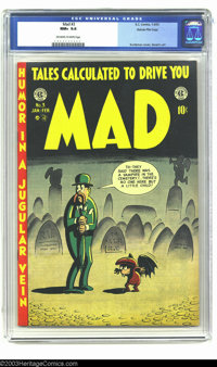 Mad #3 Gaines File pedigree 4/12 (EC, 1953) CGC NM+ 9.6 Off-white to white pages. Harvey Kurtzman, Bill Elder, Wally Woo...