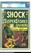 Golden Age (1938-1955):Horror, Shock SuspenStories #17 Gaines File pedigree (EC, 1954) CGC NM- 9.2Off-white to white pages. Some wear at the middle of the...