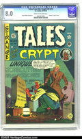 Golden Age (1938-1955):Horror, Tales From the Crypt #20 (EC, 1950) CGC VF 8.0 Cream to off-whitepages. The discovery of one's date of death has long been ...