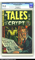 Golden Age (1938-1955):Horror, Tales From the Crypt #21 (EC, 1951) CGC VF/NM 9.0 Cream tooff-white pages. Convicted killer Cooper may have gotten thechai...