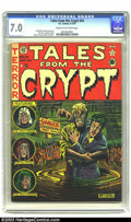 Golden Age (1938-1955):Horror, Tales From the Crypt #24 (EC, 1951) CGC FN/VF 7.0 Cream tooff-white pages. Al Feldstein's terrifying visions have beengive...
