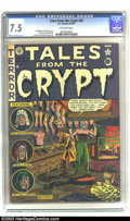 Golden Age (1938-1955):Horror, Tales From the Crypt #25 (EC, 1951) CGC VF- 7.5 Off-white pages. AlFeldstein does one of his six covers for the title, whic...