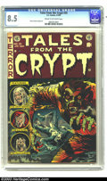 Golden Age (1938-1955):Horror, Tales From the Crypt #35 (EC, 1953) CGC VF+ 8.5 Cream to off-whitepages. Jack Davis' biting cover sets the pace for this ee...