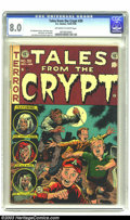 Golden Age (1938-1955):Horror, Tales From the Crypt #39 (EC, 1953) CGC VF 8.0 Off-white to whitepages. A crazed maniac teaches some impudent youngsters no...