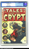 Golden Age (1938-1955):Horror, Tales From the Crypt #43 (EC, 1954) CGC VF/NM 9.0 Off-white towhite pages. Jack Davis' unique upshot on this provocative co...