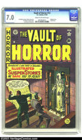 Golden Age (1938-1955):Horror, Vault of Horror #13 (EC, 1950) CGC FN/VF 7.0 Cream to off-whitepages. Remember those comics that terrified you as a kid? Th...