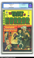 Golden Age (1938-1955):Horror, Vault of Horror #14 Gaines File pedigree 4/9 (EC, 1950) CGC NM 9.4White pages. A corner dent on the upper back cover holds ...