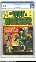 Golden Age (1938-1955):Horror, Vault of Horror #14 (EC, 1950) CGC VF/NM 9.0 Off-white pages. Thevibrant colors on this Vault of Horror are mesmerizing...