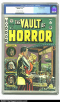 Golden Age (1938-1955):Horror, Vault of Horror #18 Gaines File pedigree 9/12 (EC, 1951) CGC NM/MT9.8 Off-white to white pages. The horror comics produced ...