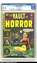 Golden Age (1938-1955):Horror, Vault of Horror #19 (EC, 1951) CGC VF+ 8.5 Cream to off-whitepages. The EC sense of irony is masterful. Here on Johnny Crai...