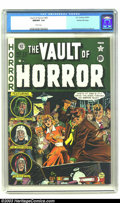 Golden Age (1938-1955):Horror, Vault of Horror #20 Gaines File pedigree 9/12 (EC, 1951) CGC NM/MT9.8 White pages. Blood and gore as you like it! Rendered ...