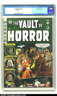 Vault of Horror #20 Gaines File pedigree 9/12 (EC, 1951) CGC NM/MT 9.8 White pages. Blood and gore as you like it! Rende...
