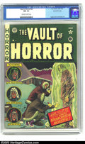 Golden Age (1938-1955):Horror, Vault of Horror #22 Gaines File pedigree 1/12 (EC, 1951) CGC NM 9.4Off-white to white pages. This exquisite copy has deep, ...