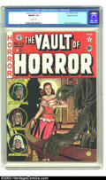 Golden Age (1938-1955):Horror, Vault of Horror #23 Gaines File pedigree 9/12 (EC, 1952) CGC NM/MT9.8 Off-white pages. Just another superlative, fetid cove...