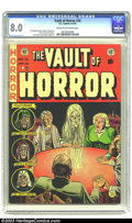 Golden Age (1938-1955):Horror, Vault of Horror #25 (EC, 1952) CGC VF 8.0 Cream to off-white pages.This issue features one of the more popular Johnny Craig...