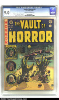 Golden Age (1938-1955):Horror, Vault of Horror #26 (EC, 1952) CGC VF/NM 9.0 Cream to off-whitepages. The dead and decaying hands, bursting up through the ...