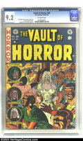 Golden Age (1938-1955):Horror, Vault of Horror #28 (EC, 1953) CGC NM- 9.2 Off-white pages. Thehorror comics produced by EC are unquestionably among the be...