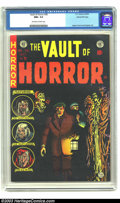 Golden Age (1938-1955):Horror, Vault of Horror #38 Gaines File Copy 1/12 (EC, 1954) CGC NM+ 9.6Off-white to white pages. Collecting black covers is a dist...