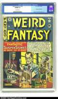 Golden Age (1938-1955):Horror, Weird Fantasy 13 (#1) (EC, 1950) CGC VF/NM 9.0 Off-white pages. Theground-breaking science-fiction comics from EC all start...
