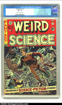 Weird Science #12 Gaines File pedigree 10/11 (EC, 1952) CGC NM- 9.2 Off-white to white pages. Wally Wood gives us a fun...
