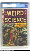 Golden Age (1938-1955):Science Fiction, Weird Science #17 Gaines File pedigree (EC, 1953) CGC NM 9.4Off-white to white pages. Wally Wood's first work at EC came on...