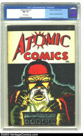 Golden Age (1938-1955):Crime, Atomic Comics #1 (Green Publishing Co., 1946) CGC NM- 9.2 Off-white pages. A swipe of Creig Flessel's Detective Comics #...