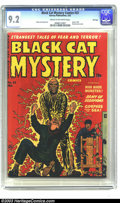 Golden Age (1938-1955):Horror, Black Cat Mystery #33 File Copy (Harvey, 1952) CGC NM- 9.2 Cream tooff-white pages. A fantastic electrocution cover kicks o...