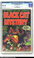 Golden Age (1938-1955):Horror, Black Cat Mystery #36 File Copy (Harvey, 1952) CGC VF/NM 9.0 Creamto off-white pages. This issue was used in the classic an...