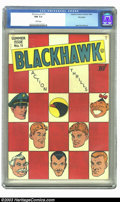 Golden Age (1938-1955):Adventure, Blackhawk #11 Big Apple pedigree (DC, 1946) CGC NM 9.4 White pages. A great checkerboard cover sets this book off from the r...