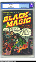Golden Age (1938-1955):Horror, Black Magic V1#1 (Prize, 1950) CGC VF- 7.5 Off-white pages. JackKirby's art is apparent on the eerie cover to this great fi...