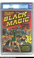 Golden Age (1938-1955):Horror, Black Magic #2 Palo Alto pedigree (Prize, 1950) CGC NM- 9.2 Creamto off-white pages. In their quest for something new and d...