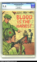 Golden Age (1938-1955):War, Blood is the Harvest #nn (Catechetical Guild, 1950) CGC NM 9.4Off-white to white pages. One of the most notorious give-away...