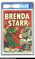 Golden Age (1938-1955):Crime, Brenda Starr V2#9 Mile High pedigree (Four Star, 1949) CGC NM+ 9.6 Off-white to white pages. If you are looking for a top-qu...