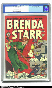 Brenda Starr Vol. 2, #9 Mile High pedigree (Four Star, 1949) CGC NM+ 9.6 Off-white to white pages. If you are looking fo...