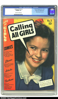 Calling All Girls #3 Mile High pedigree (Parents' Magazine Institute, 1942) CGC VF/NM 9.0 Off-white to white pages. Shir...