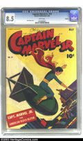 Golden Age (1938-1955):Superhero, Captain Marvel Jr. #19 Okajima pedigree (Fawcett, 1944) CGC VF+ 8.5 White pages. This cover always reminds us of the movie ...