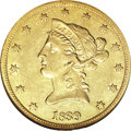 Liberty Eagles, 1839 $10 Type of 1840, Small Letters AU53 NGC....