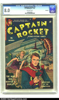 Golden Age (1938-1955):Science Fiction, Captain Rocket #1 Bethlehem pedigree (P.L. Publishing Co., 1951)CGC VF 8.0 Off-white pages. Want a science fiction book tha...