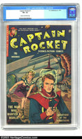 """Golden Age (1938-1955):Science Fiction, Captain Rocket #1 (P.L. Publishing Co., 1951) CGC FN- 5.5 Cream tooff-white pages. """"We must prepare for an invasion from Ma..."""