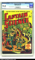Golden Age (1938-1955):Science Fiction, Captain Science #5 Bethlehem pedigree (Youthful Magazines, 1951)CGC VF/NM 9.0 Cream to off-white pages. Even early on in hi...
