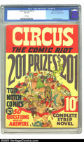 Golden Age (1938-1955):Humor, Circus the Comic Riot #1 Mile High pedigree (Globe Syndicate, 1938) CGC VG 4.0 White pages. Scarce. Basil Wolverton art on S...