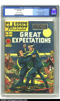 Classics Illustrated #43 (Gilberton, 1947) CGC VF+ 8.5 Off-white to white pages. Of the 169 Classics produced over a 28-...