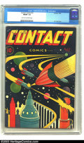Golden Age (1938-1955):Science Fiction, Contact Comics #12 (Aviation Press, 1946) CGC FN/VF 7.0 Light tanto off-white pages. The brilliance of L. B. Cole was on di...