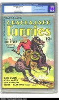 Golden Age (1938-1955):Western, Crackajack Funnies #9 (Dell, 1939) CGC VF- 7.5 Cream to off-whitepages. Here's one to get the Western collectors salivating...