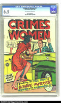 Golden Age (1938-1955):Crime, Crimes by Women #1 (Fox, 1948) CGC FN+ 6.5 Off-white to white pages. This premiere issue features the true story of Bonnie P...