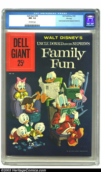Dell Giant #38 (Uncle Donald And His Nephews Family Fun) File Copy (Dell, 1960) CGC NM- 9.2 Off-white pages. Uncle Donal...