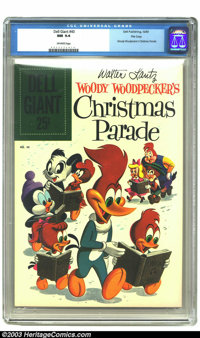 Dell Giant #40 (Woody Woodpecker's Christmas Parade) File Copy (Dell, 1960) CGC NM 9.4 Off-white pages. Walter Lantz Woo...