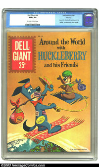 Dell Giant #44 (Around The World With Huckleberry & His Friends) File Copy (Dell, 1961) CGC NM+ 9.6 Off-white to whi...