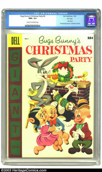 Bugs Bunny's Christmas Party #6 File copy (Dell, 1955) CGC NM+ 9.6 Cream to off-white pages. Dell Giant; formerly Bugs B...